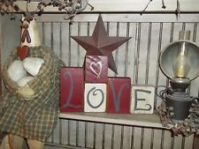 Valentine's day Gift LOVE Signs Rustic Wood Shelf Sitter Block Signs Home Decor