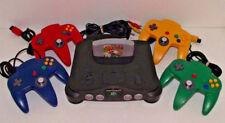Nintendo 64 Console + 4 Coloured Controllers + Mario Kart N64 PAL Seller Refurb*