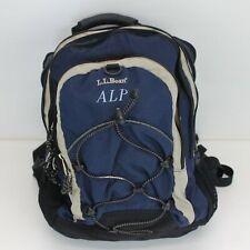 L.L. Bean BackPack Multi-pocket School Bag Pack Blue ALP Logo Unisex