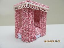DOLLHOUSE MINIATURE QUARTER INCH SCALE HAND CRAFTED CANOPY BED