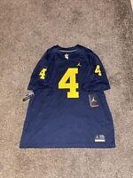 Nike Air Jordan Michigan Wolverines Jim Harbaugh 4 Mens Football Jersey Size 2XL