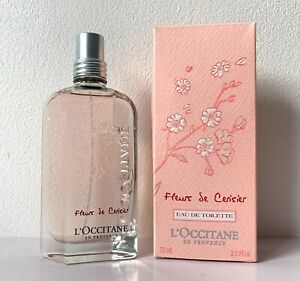 BNIB L'Occitane Cherry Blossom (Fleurs de Cerisier) 75ml Eau de Toilette Spray