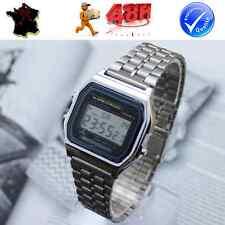 Montre Retro Classique Numérique Homme Femme Enfant (date, alarme, chronomètre)