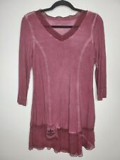 Soft Surroundings XSmall Tunic XS Dark Dusty Rose