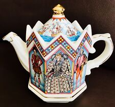 "Collector's Registered DesIgn James Sadler ""Elizabeth I Queen of England"" Teapot"