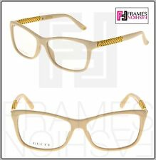7ce849b818 GUCCI Diamantissima GG3695S Ivory Gold Plated RX Frame Eyeglasses 3695 54mm
