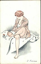 Fabiano - Sexy Woman Self-Pedicure - Feet POUR ETRE BELLE c1910 Postcard