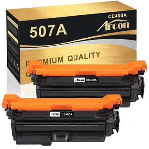 2 Pack Black Toner For HP CE400A 507A LaserJet Pro 500 color MFP M570dn M570dw