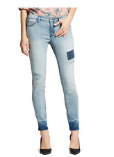 Women's Mossimo Jeans Skinny Mid Rise Stretch Jegging Light Blue Size 16 Short