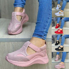 WOMENS LADIES SNEAKERS KNIT TRAINERS SLIP ON SPORT CASUAL RUNNING WALKING SHOES