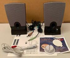 Pair of Black Vintage Harmon/Kardon Multimedia Computer Speaker System; Used