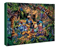 Eric Dowdle Mickey and Friends Exploring the Jungle 11 x 14 Wrapped Canvas