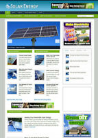SOLAR ENERGY HELP WEBSITE WITH AFFILIATE STORE & NEW DOMAIN NAME + HOSTING