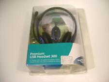 Logitech 980130-0403 Premium USB Headset 300. NEW Factory Sealed.
