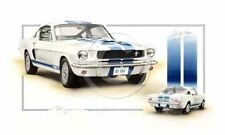 FORD SHELBY MUSTANG GT 350 V8 1965 LE MANS NEW PAINTING PRINT ART CHRIS DUGAN A+