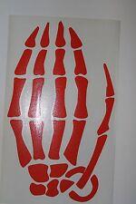 "New Die Cut GRENADE Skeleton Hand Sticker WINDOW DECAL Orange 9' x 5.5"" COOL!!"