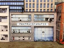 *O Scale Scratch Built Industrial #2G Factory Building Front/Flat, MTH Lionel*