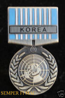 UNITED NATIONS SERVICE MEDAL KOREA HAT PIN KOREAN US ARMY MARINES NAVY AIR FORCE