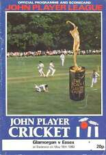 Glamorgan v Essex 1980 John Player League Cricket Programme at St Helens Swansea