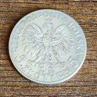 5 Zlotych- 'Queen Jadwiga'  old unique poland Silver coin 1933