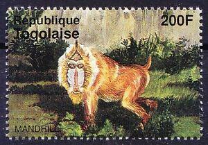 Mandrill, Monkeys, Wild Animals, Togo 1995 MNH (N164)