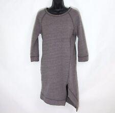 FREE PEOPLE FP Beach XS cozy sweatshirt dress NEW cocoa brown asymentric fleece