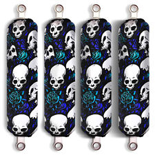 Blue Skull Shock Covers Polaris Youth Ranger RZR 170 Side by Side (Set of 4) New