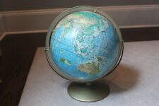 Vintage Rand McNally World Portrait Topographical Globe Soviet Union Metal Base