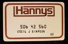 Hannys charge cardâ—‡free shipâ—‡cc1847