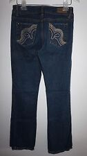 Roca Wear Denim Blue Jeans Juniors Sz 7 Boot Cut Dark Wash