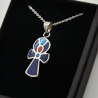 Silver Boho Cross Pendant & Necklace
