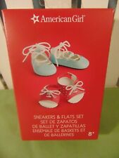 AMERICAN GIRL NEW Two Pairs of Shoes - Sneakers AND Flats New in BOX Cute Gift