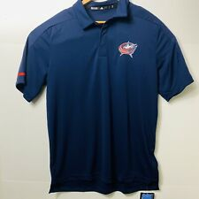 Adidas Climate Columbus Blue Jackets Game Day Polo Shirt Mens Size:L NHL D78098