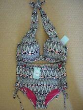 0ba7e88af2 Matthew Williamson Black Stone Tribal Bikini Set UK 38dd 14 EUR 40-42 US 10