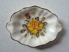 Vintage ROYAL STUART Spencer Stevenson Bone China ASHTRAY England Yellow Roses
