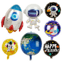 4D Stereoscopic Foil Balloons Astronaut Spaceship Rocket Earth Birthday Party
