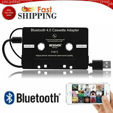 Car Bluetooth 4.0 Audio Stereo Cassette Tape Adapter To Aux For iPhone iPod Mp3