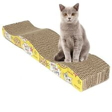 S-Shaped Cat Kitten Corrugated Scratch Board Pad Scratcher toy