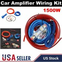 1500W 8 Gauge Car Amplifier Cable Auto Audio Kit Amp Install Sub Wiring Set