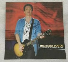 "Autographed/Signed Richard Marx ""A Night Out With Friends"" CD + DVD Digipak"