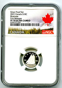 1921 2021 CANADA 10 CENT KING GEORGE SILVER PROOF NGC PF70 UC DIME FIRST RELEASE