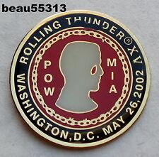 2002 WASHINGTON DC ROLLING THUNDER POW MIA VEST JACKET PIN