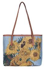 Signare van Gogh Sonnenblumen Gemälde Schulter Tasche Gobelin Damen Handtasche
