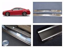 Door Sill Scuff Plate Guards For Honda Accord COUPE 2008-12 Threshold Protectors