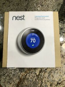 * Nest 2rd Generation Learning Thermostat (T200577) Stainless Steel