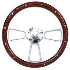 Chevy Pick Up Truck Real Wood & Billet Steering Wheel & Adapter 1948 -1959