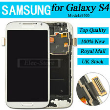 White Screen For Samsung Galaxy S4 i9505 LCD Display Digitizer & Touch & Frame