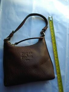Dooney & Bourke micro Mini Handbag Brown leather Zipper