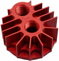 Spin on oil filter adapter billet cooling aluminum red anodize M20x1.5 FLOCOOL