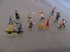 680F Vintage Märklin 404GB 0202 10 Figurines Ho Voyageurs Personnel Quai